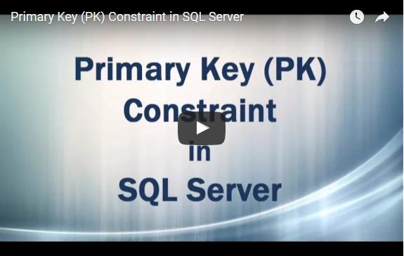 PK Constraint