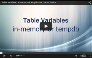 SQL Server - Table Variable - YouTube