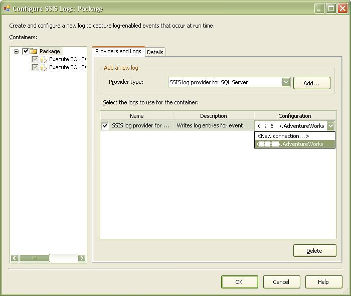 Logging in SSIS... using SQL Server Log Provider (3/6)
