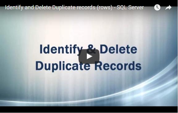 Delete Duplicates