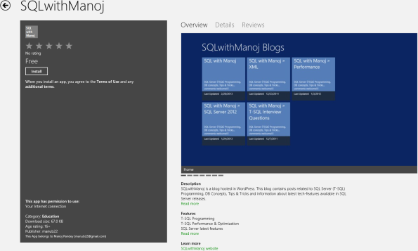 SQLwithManoj Windows 8 App