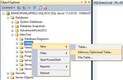 SQLServer2014HekatonTables