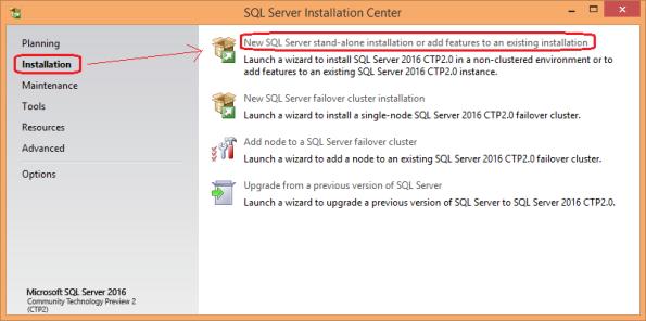 SQL Server 2016 Install 00