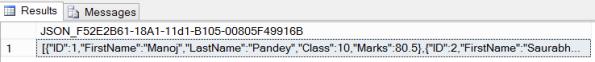 SQL Server 2016 JSON 01