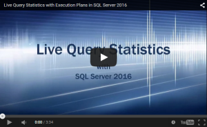 SQL Server 2016 - Live Query Stats - YouTube