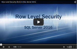 SQL Server - Row Level Security - YouTube