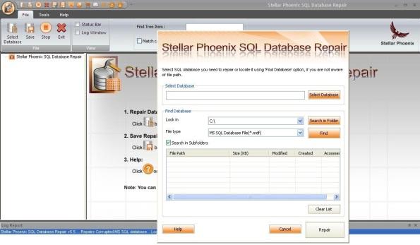 Stellar Phoenix SQL Database Repair 1