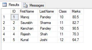 SQL Server 2016 - JSON export 01