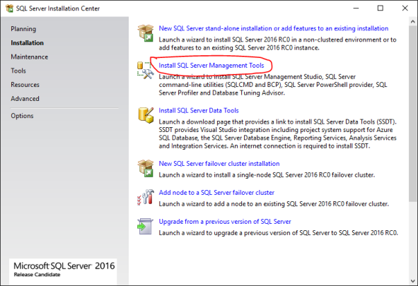 Download & Install SQL Server Management Studio (SSMS) 2016