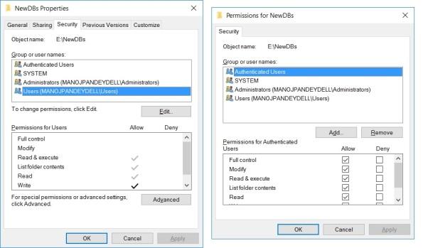 attach-db-access-denied