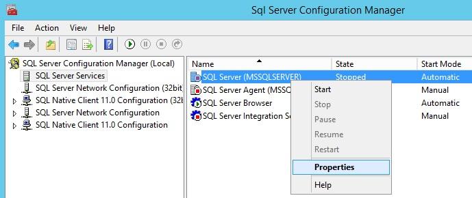 SQL Error – SQL Server service failed to Start | Windows