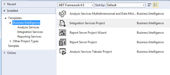 Tabular model sql with manoj i checked his visual studio opened a new project and checked if the ms bi templates for ssas ssrs and ssis are showing or not you can check them below accmission Image collections