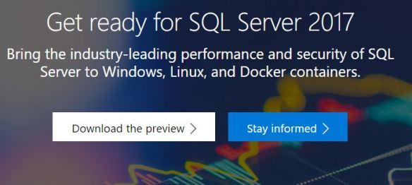 Microsoft released SQL Server 2017 CTP 2 0 – new features