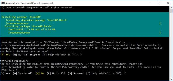 powershell Login Arm error 2