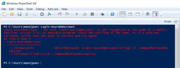 powershell Login Arm error