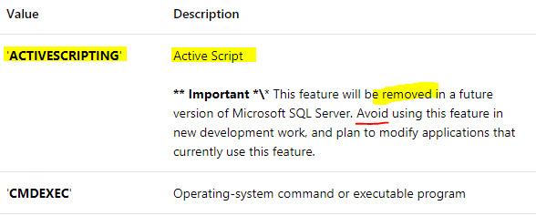SQL Job ActiveScripting