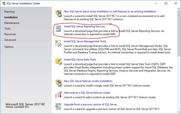 Download & Install SQL Server Reporting Services (SSRS) 2017