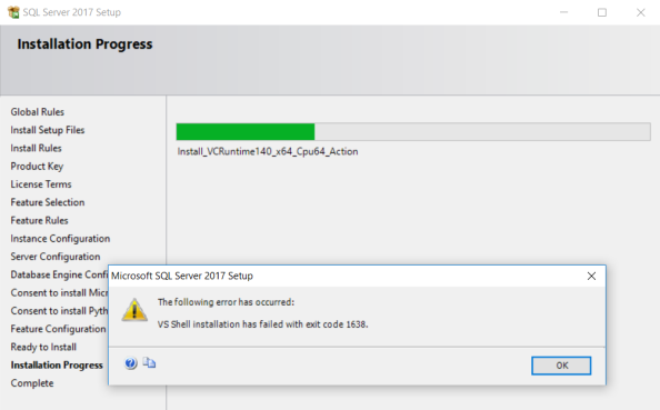 unable to install sql server 2014 on windows 7