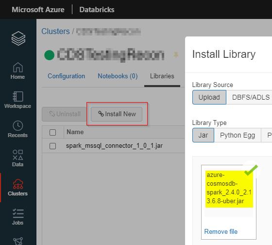 Databricks CosmosDB Library